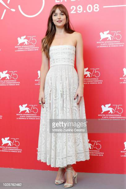 Dakota Johnson attends 'Suspiria' photocall during the 75th Venice Film Festival at Sala Casino on September 1 2018 in Venice Italy