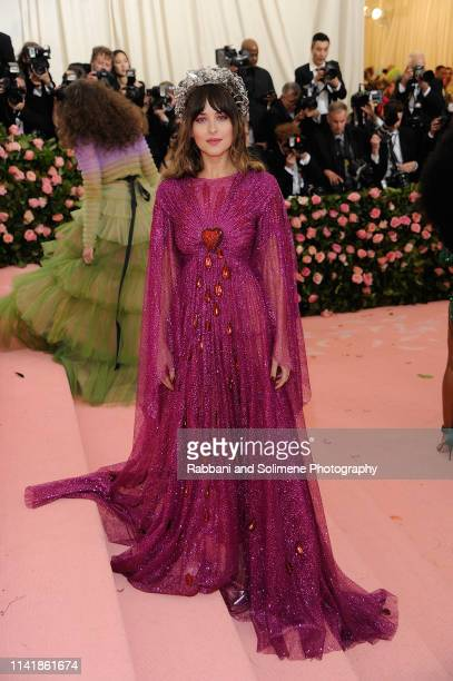 Dakota Johnson attends The 2019 Met Gala Celebrating Camp Notes On Fashion Arrivalsat The Metropolitan Museum of Art on May 6 2019 in New York City