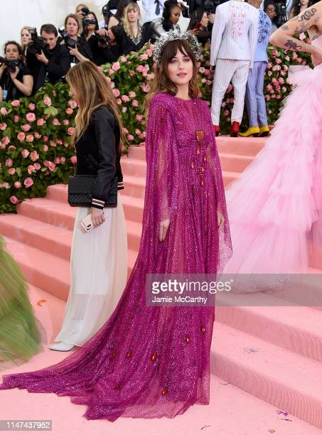 Dakota Johnson attends The 2019 Met Gala Celebrating Camp Notes on Fashion at Metropolitan Museum of Art on May 06 2019 in New York City