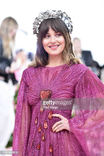Dakota Johnson attends The 2019 Met Gala Celebrating Camp: Notes on Fashion at Metropolitan Museum of Art on May 06, 2019 in New York City.