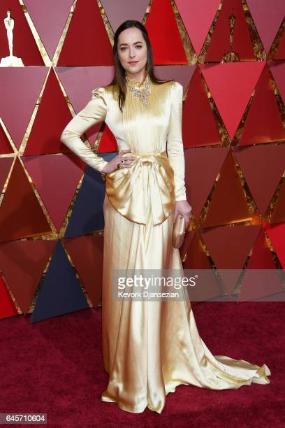 Dakota Johnson attends the 89th Annual Academy Awards at Hollywood Highland Center on February 26 2017 in Hollywood California