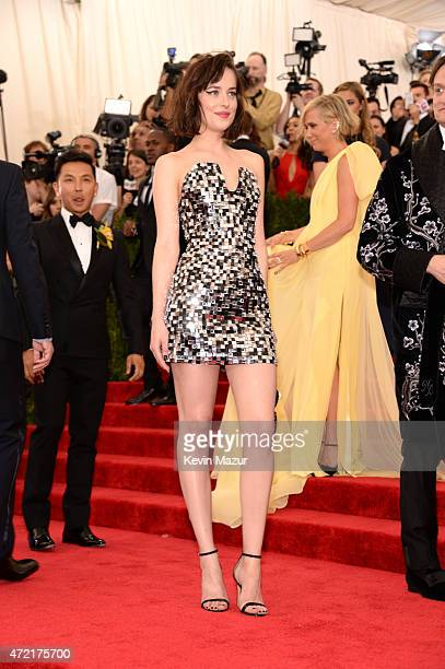 Dakota Johnson attends the 'China Through The Looking Glass' Costume Institute Benefit Gala at Metropolitan Museum of Art on May 4 2015 in New York...