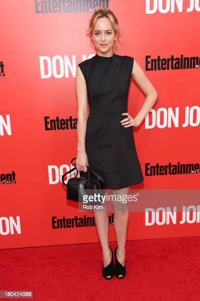 Dakota Johnson attends the Don Jon New York premiere at SVA Theater on September 12 2013 in New York City