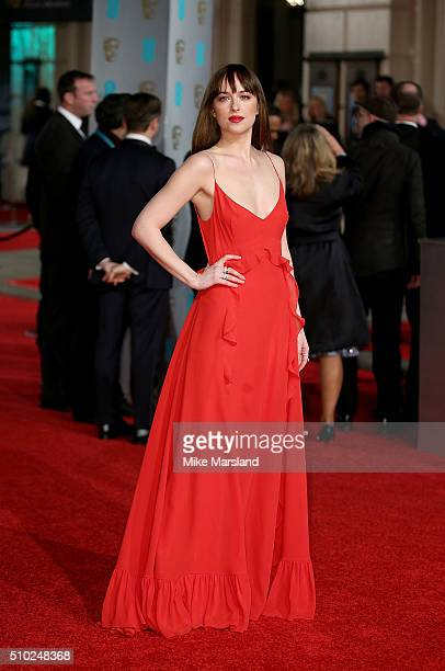 Dakota Johnson attends the EE British Academy Film Awards at The Royal Opera House on February 14 2016 in London England