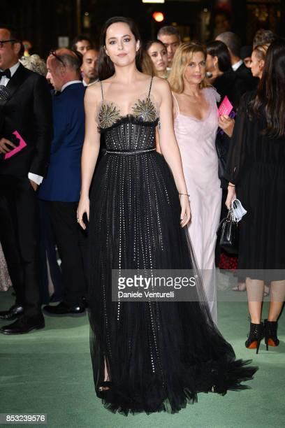 Dakota Johnson attends the Green Carpet Fashion Awards Italia 2017 during Milan Fashion Week Spring/Summer 2018 on September 24 2017 in Milan Italy