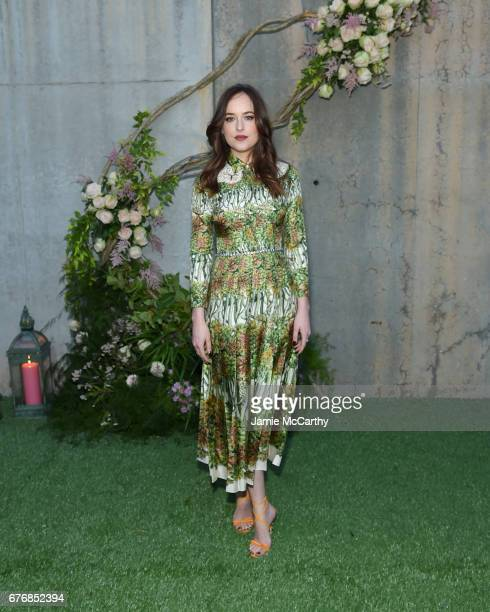 Dakota Johnson attends the Gucci Bloom Fragrance Launch Event at MoMA PS1 on May 2 2017 in New York City