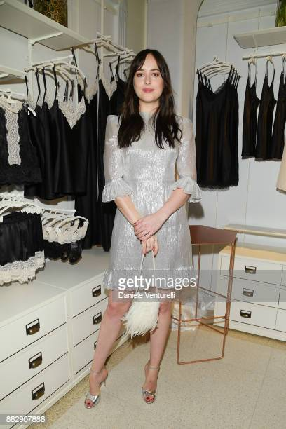 Dakota Johnson attends the Intimissimi Grand Opening on October 18 2017 in New York United States
