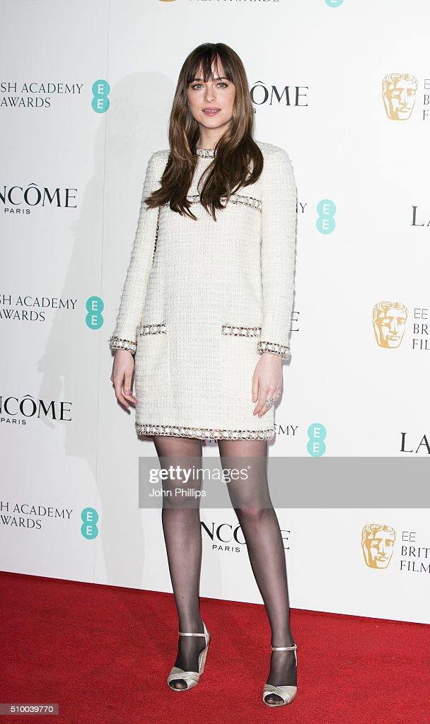 Dakota Johnson attends the Lancome BAFTA nominees party at Kensington Palace on February 13, 2016 in London, England.