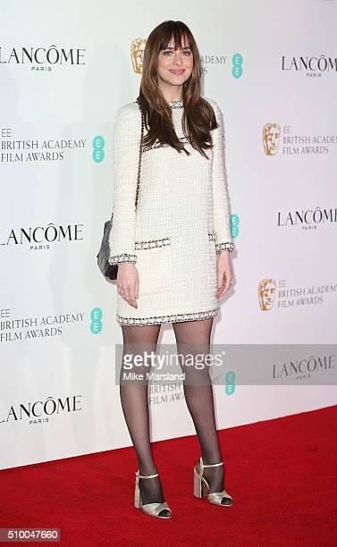 Dakota Johnson attends the Lancome BAFTA nominees party at Kensington Palace on February 13 2016 in London England