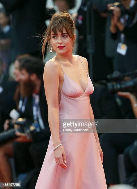 Dakota Johnson attends the premiere for 'Black Mass' during the 72nd Venice Film Festival on September 4 2015 in Venice Italy