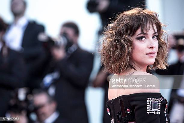 Dakota Johnson attends the premiere of movie A Bigger Splash presented in competition during the 72nd International Venice Film Festival