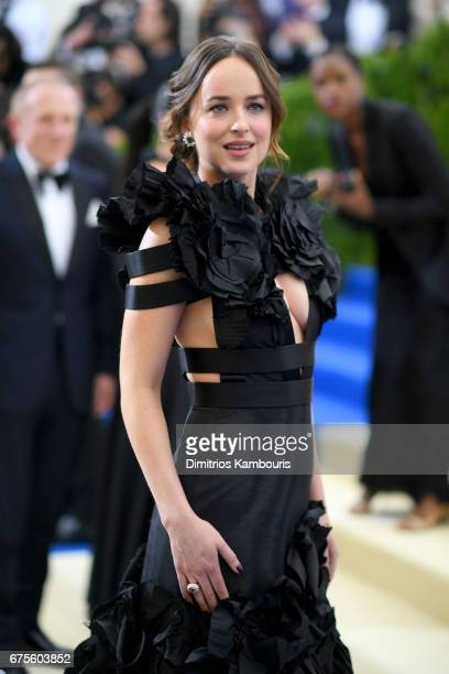 Dakota Johnson attends the 'Rei Kawakubo/Comme des Garcons Art Of The InBetween' Costume Institute Gala at Metropolitan Museum of Art on May 1 2017...