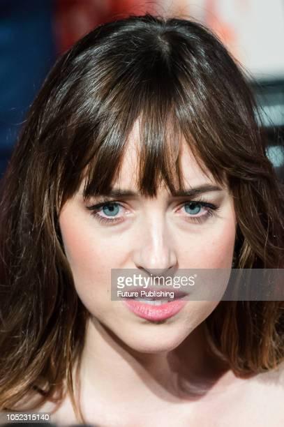 Dakota Johnson attends the UK film premiere of 'Suspiria' at Cineworld, Leicester Square, during the 62nd London Film Festival Headline Gala. October...