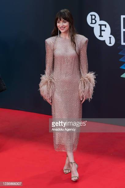 Dakota Johnson attends the UK film premiere of 'The Lost Daughter' at the Royal Festival Hall during the 65th BFI London Film Festival in London,...