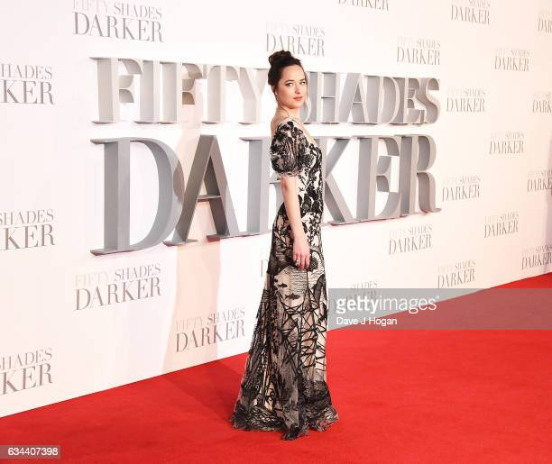 Dakota Johnson attends the UK premiere of 'Fifty Shades Darker' at Odeon Leicester Square on February 9 2017 in London England