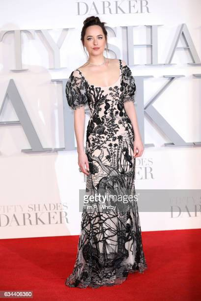 Dakota Johnson attends the UK Premiere of 'Fifty Shades Darker' at the Odeon Leicester Square on February 9 2017 in London United Kingdom
