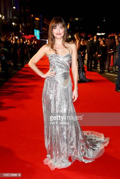 Dakota Johnson attends the UK Premiere of Suspiria Headline Gala during the 62nd BFI London Film Festival on October 16 2018 in London England