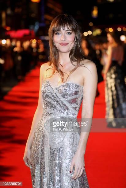 Dakota Johnson attends the UK Premiere of Suspiria Headline Gala during the 62nd BFI London Film Festival on October 16 2018 in London England