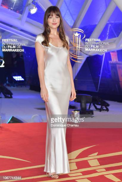 Dakota Johnson attends Tribute To Agnes Varda during the 17th Marrakech International Film Festival on December 2 2018 in Marrakech Morocco