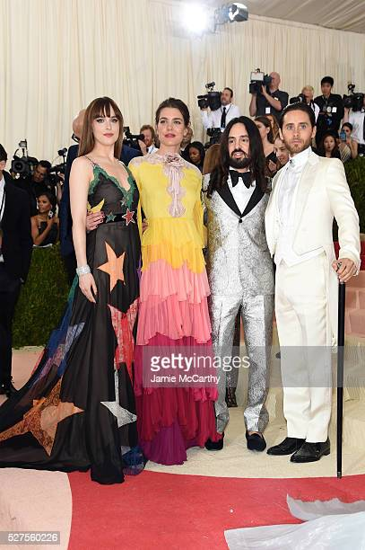 Dakota Johnson Charlotte Casiraghi Alessandro Michele and Jared Leto attend the 'Manus x Machina Fashion In An Age Of Technology' Costume Institute...