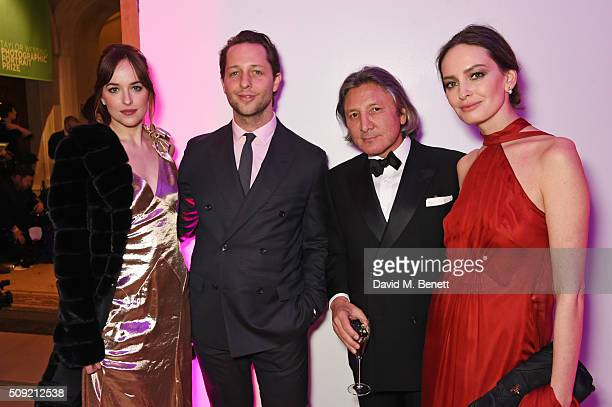 Dakota Johnson Derek Blasberg Leon Max and Yana Max attend a private view of Vogue 100 A Century of Style hosted by Alexandra Shulman and Leon Max at...