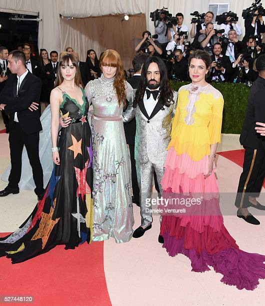 Dakota Johnson Florence Welch Alessandro Michele and Charlotte Casiraghi attend the 'Manus x Machina Fashion In An Age Of Technology' Costume...