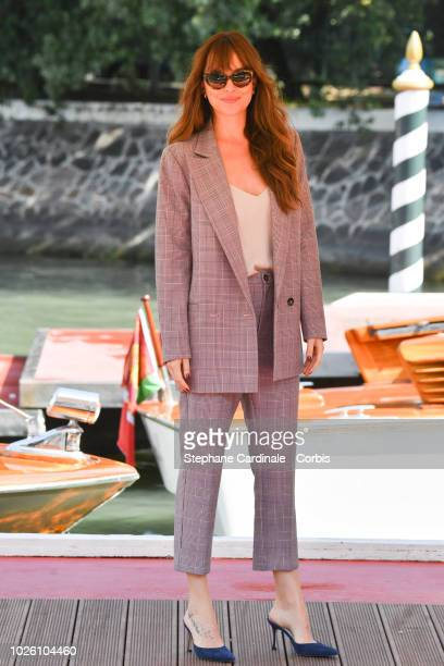 Dakota Johnson is seen arriving at the 75th Venice Film Festival on September 2 2018 in Venice Italy