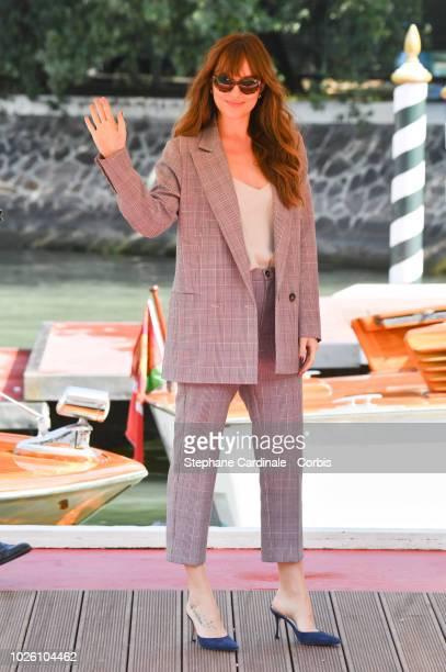 Dakota Johnson is seen arriving at the 75th Venice Film Festival on September 2 2018 in Venice Italy