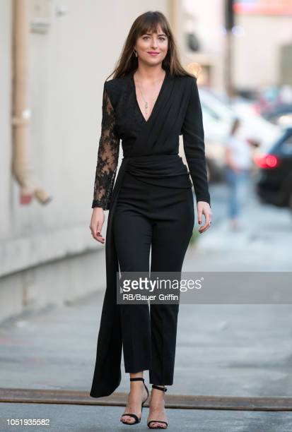 Dakota Johnson is seen at 'Jimmy Kimmel Live' on October 11 2018 in Los Angeles California