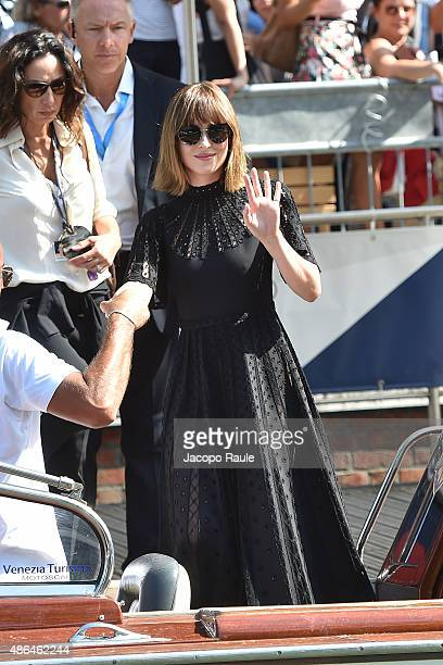 Dakota Johnson is seen during the 72nd Venice Film Festival on September 4 2015 in Venice Italy