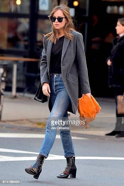 Dakota Johnson is seen in Soho on October 12 2016 in New York City