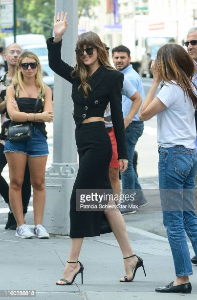 Dakota Johnson is seen on August 7 2019 in New York City