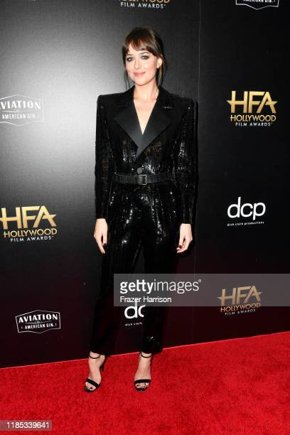 Dakota Johnson poses in the press room during the 23rd Annual Hollywood Film Awards at The Beverly Hilton Hotel on November 03 2019 in Beverly Hills...