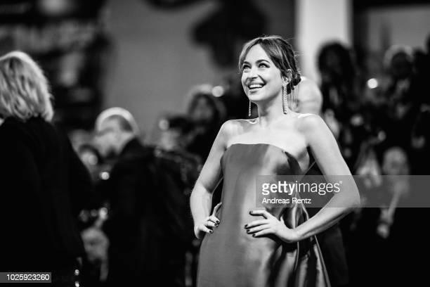 Dakota Johnson walks the red carpet ahead of the 'Suspiria' screening during the 75th Venice Film Festival at Sala Grande on September 1 2018 in...