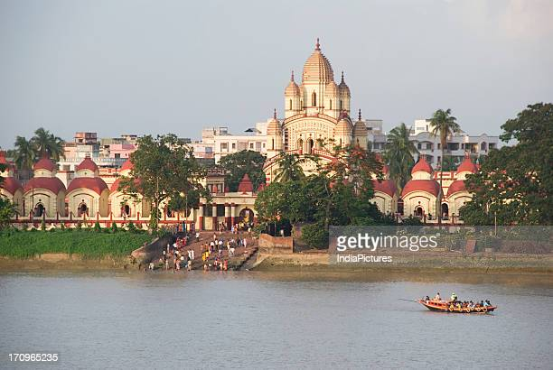 Dakshineshwar Kali Temple and Hooghly river near Kolkata West Bengal India
