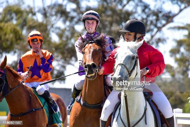 Daktari ridden by Laura Lafferty returns to the mounting yard after winning the Ecycle Solutions 058 Handicap at Stawell Racecourse on December 07...