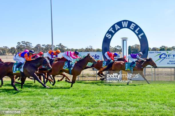 Daktari ridden by Laura Lafferty wins the Ecycle Solutions 058 Handicap at Stawell Racecourse on December 07 2019 in Stawell Australia