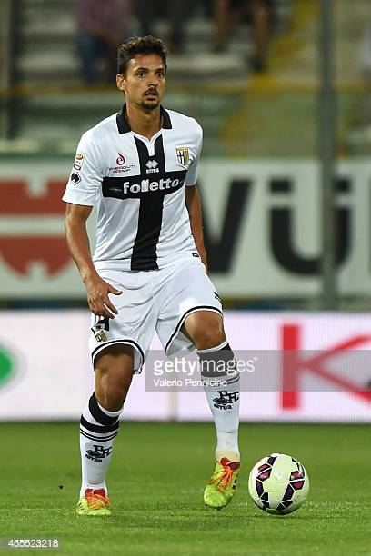 Dal Bello Felipe of Parma FC in action during the Serie A match between Parma FC and AC Milan at Stadio Ennio Tardini on September 14 2014 in Parma...