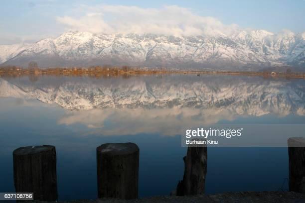 dal lake, kashmir - burhaan kinu stockfoto's en -beelden
