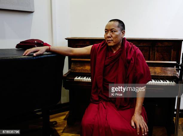 Dalai Lama's Gyuto Monk in Rak studios recording an album ahead of their 'Open Minds Loving Heart Tour' on November 21 2017 in London England