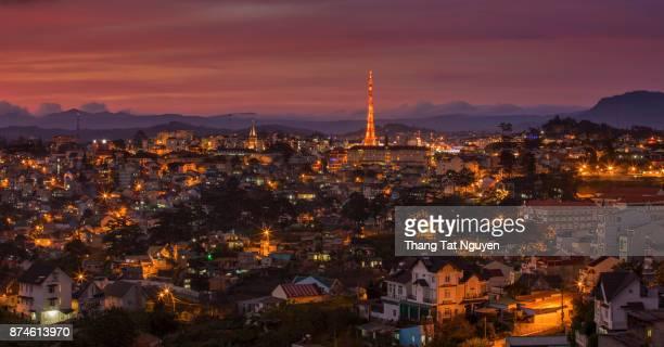 Dalat city night view