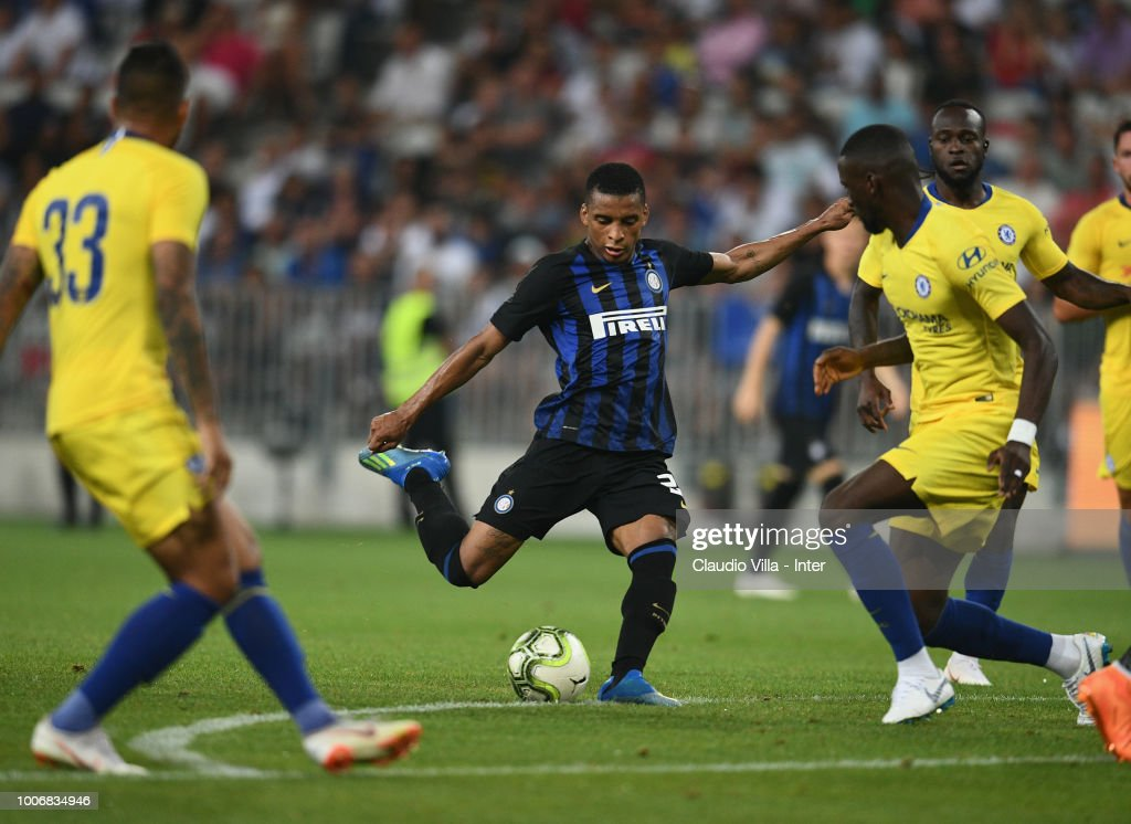 Dalbert Henrique Chagas Estevão of FC Internazionale in action during the International Champions Cup 2018 match between Chelsea and FC Internazionale played at Allianz Riviera Stadium on July 28, 2018 in Nice, France.
