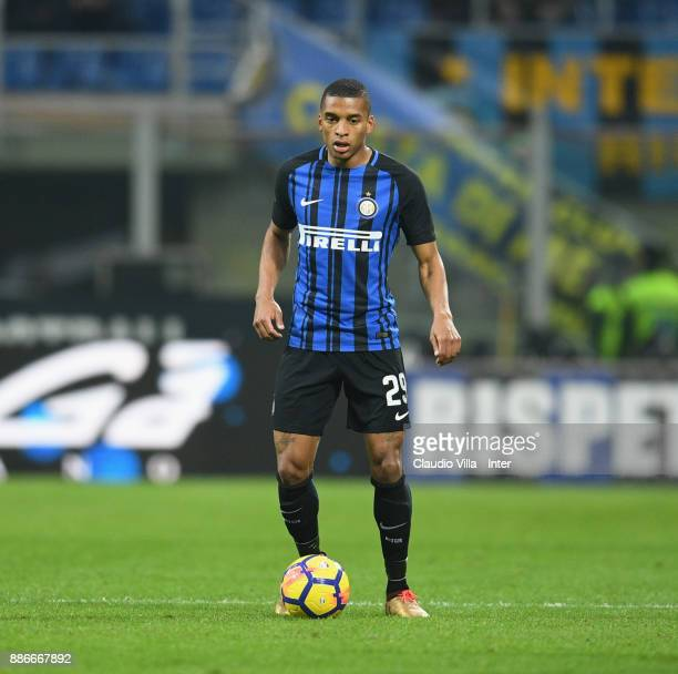 Dalbert Henrique Chagas Estevão of FC Internazionale in action during the Serie A match between FC Internazionale and AC Chievo Verona at Stadio...