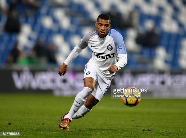 Dalbert Henrique Chagas Estevão of FC Internazionale in action during the serie A match between US Sassuolo and FC Internazionale at Mapei Stadium...