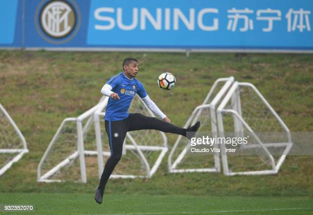 Dalbert Henrique Chagas Estevão of FC Internazionale in action during the FC Internazionale training session at the club's training ground Suning...