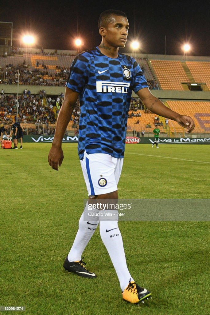 Dalbert Henrique Chagas Estevão of FC Internazionale looks on prior to the Pre-Season Friendly match between FC Internazionale and Real Betis at Stadio Via del Mare on August 12, 2017 in Lecce, Italy.