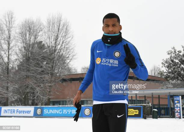 Dalbert Henrique Chagas Estevão of FC Internazionale poses for a photo during the FC Internazionale training session at the club's training ground...