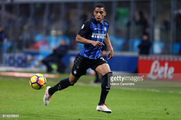 Dalbert Henrique of FC Internazionale in action during the Serie A match between FC Internazionale and Fc Crotone The match end in a tie 11