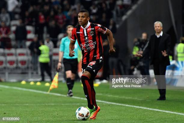 Dalbert Henrique of Nice during the French Ligue 1 match between Nice and Paris Saint Germain at Allianz Riviera on April 30 2017 in Nice France