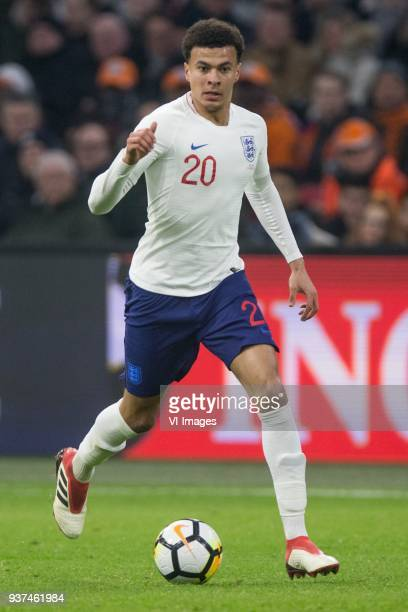 Dale Alli of England during the International friendly match match between The Netherlands and England at the Amsterdam Arena on March 23, 2018 in...